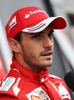 Jules Bianchi, Ferrari Test Driver with the media