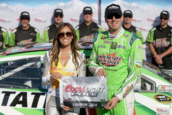 Kyle Busch celebrates pole