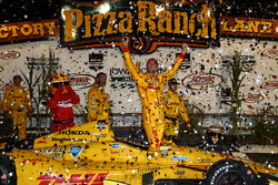 INDYCAR: Race winner Ryan Hunter-Reay, Andretti Autosport Honda