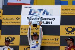 Podium, Winner Maxime Martin, BMW Team RMG BMW M4 DTM