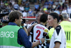 Birgit Prinz, Former World Champion Women Football, drivers vs. all stars, Kick for Kinder charity football match