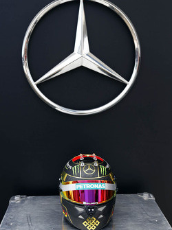 The helmet of Nico Rosberg, Mercedes AMG F1 celebrating Germany's 2014 FIFA World Cup success