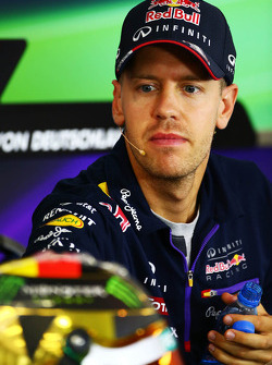F1: Sebastian Vettel, Red Bull Racing in the FIA Press Conference