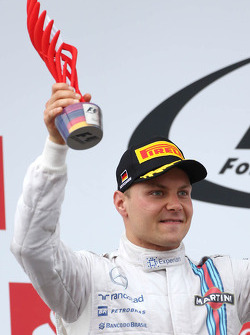 Podium: second place Valtteri Bottas