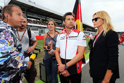 (L to R): Kai Ebel, RTL TV Presenter with Patrick Dempsey, Actor and his wife Jill Fink
