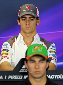 Esteban Gutierrez, Sauber and Sergio Perez, Sahara Force India F1 in the FIA Press Conference