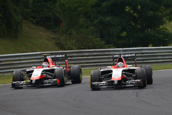Max Chilton, Marussia F1 Team MR03 and Jules Bianchi, Marussia F1 Team MR03