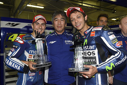 Second place Jorge Lorenzo and third place Valentino Rossi, Yamaha Factory Racing