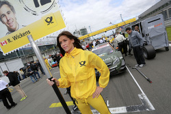 Gridgirl of Robert Wickens, Mercedes AMG DTM-Team HWA DTM Mercedes AMG C-Coupe