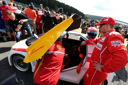 Kimi Raikkonen, Scuderia Ferrari drives a car from the Shell Eco Marathon