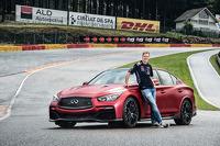 Sebastian Vettel with the Infiniti Q50 Eau Rouge