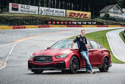 Sebastian Vettel with the Infiniti Q50 Eau Rouge