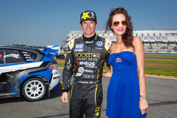 #34 Volkswagen Andretti Rallycross Volkswagen Polo: Tanner Foust with the Red Bull girl