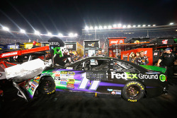 Denny Hamlin's damaged car
