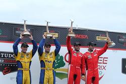 GTLM Winners #62 Risi Competizione Ferrari F458: Giancarlo Fisichella, Pierre Kaffer  GTD Winners #94 Turner Motorsport BMW Z4: Dane Cameron, Markus Palttala