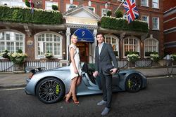 Maria Sharapova and Mark Webber at Wimbledon
