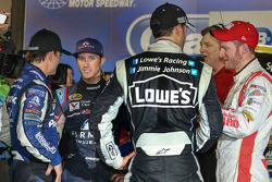 Kasey Kahne, Hendrick Motorsports Chevrolet with teammates Jeff Gordon, Jimmie Johnson, Dale Earnhardt Jr.