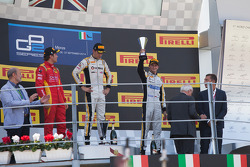 Podium: Second place Stefano Coletti, Race winner Jolyon Palmer, third place Stephane Richelmi