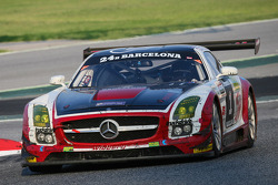 #1 Hofor Racing Mercedes SLS AMG GT3: Michael Kroll, Roland Eggimann, Kenneth Heyer, Christiaan Frankenhout, Chantal Kroll