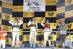 Podium: race winner Pascal Wehrlein, second place Christian Vietoris, third place Timo Scheider