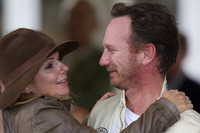 Christian Horner & Geri Haliwell 'loving embrace'