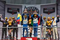P class podium: first place Scott Pruett, Memo Rojas, second place Gustavo Yacaman, Alex Brundle, third place Joao Barbosa, Christian Fittipaldi