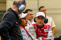 Tom Kristensen, Loic Duval and Dr. Wolfgang Ullrich