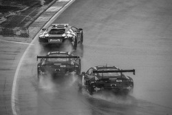 Safety car leads #1 Belgian Audi Club Team WRT Audi R8 LMS Ultra: Cesar Ramos, Laurens Vanthoor, Christopher Mies and #3 Belgian Audi Club Team WRT Audi R8 LMS Ultra: James Nash, Frank Stippler, Marc Basseng