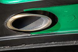 #19 Black Falcon Mercedes SLS AMG GT3 exhaust detail