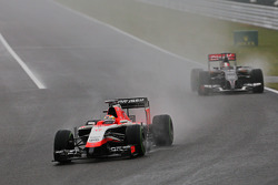Jules Bianchi, Marussia F1 Team MR03 leads Adrian Sutil, Sauber C33
