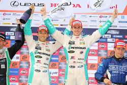 Race winners Kazuki Nakajima, James Rossiter