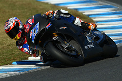 Casey Stoner tests the Honda MotoGP