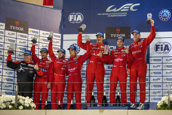 LMP1-L podium: 1st place Dominik Kraihamer, Andrea Belicchi, Fabio Leimer; 2nd place Nicolas Prost, Nick Heidfeld, Mathias Beche