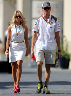 Adrian Sutil, Sauber F1 Team and his girlfriend Jennifer Becks