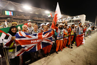 Marshals and fans of Lewis Hamilton, Mercedes AMG F1