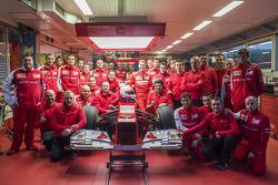 Sebastian Vettel and the Scuderia Ferrari team