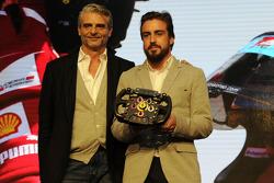 Maurizio Arrivabene and Fernando Alonso