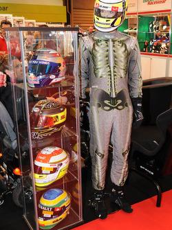 Race Helmits/ Suit on display