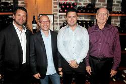 Area 27 founders Trevor Seibert, Jacques Villeneuve, Bill Drossos and David King at the launch party