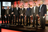 Team owner Joe Gibbs, Denny Hamlin, Kyle Busch, Matt Kenseth, Carl Edwards