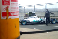 Screen-grab from Mercedes teaser video of the W06