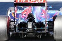 Technical detail of the rear of the Toro Rosso