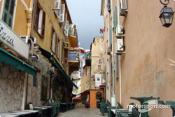 A typical street in Ajaccio