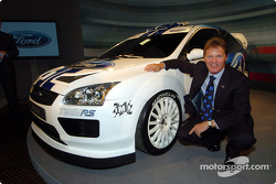 Malcolm Wilson with the new Ford Focus WRC Concept