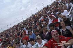Phoenix International Raceway fans during the red flag