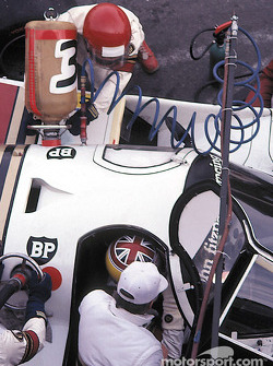 Pitstop for #33 Fitzpatrick Porsche Team Porsche 956: David Hobbs, Jo Gartner, Guy Edwards