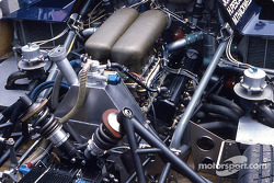 Engine of the #61 Kouros Racing Team Sauber C8 Mercedes