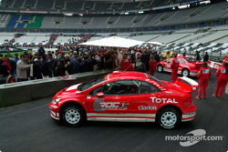 The Peugeot 307 WRC on display