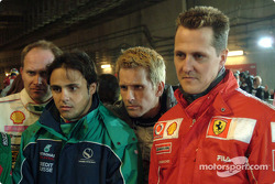 Armin Schwarz, Felipe Massa, Kenny Brack and Michael Schumacher