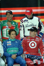Tony Kanaan, Jimmie Johnson, Felipe Massa and Casey Mears